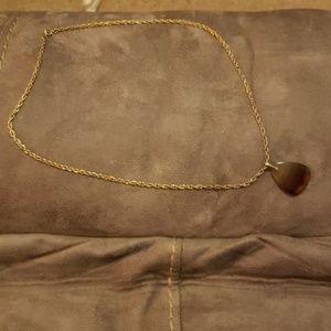 Stone Agate Pendant Necklace